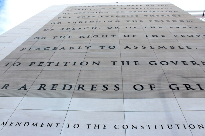 Newseum in DC - first amendment