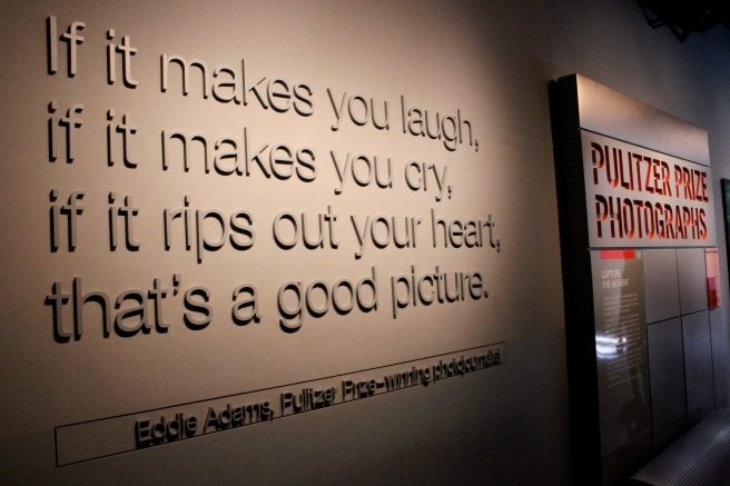 newseum - good photography quote
