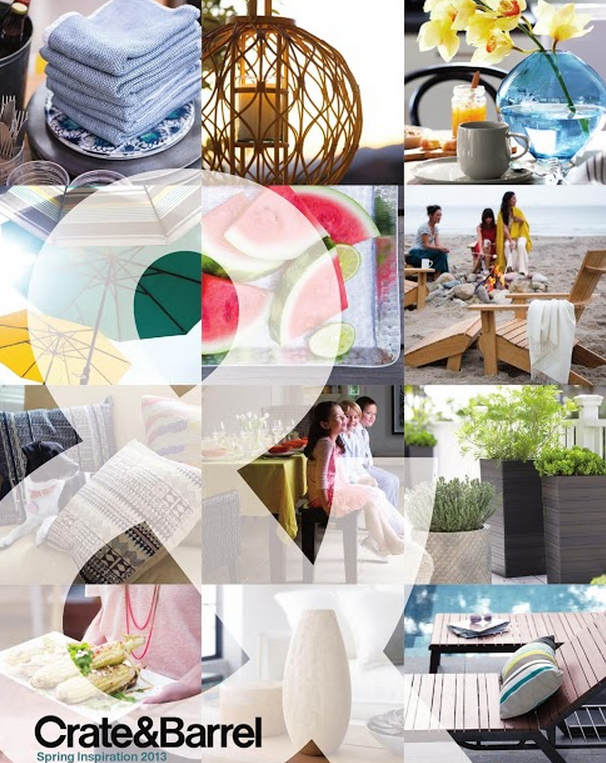 crate & barrel spring inspiration catalog
