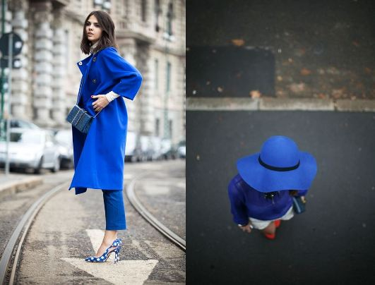 bright blue cobalt fashion