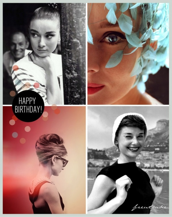 audrey hepburn birthday card