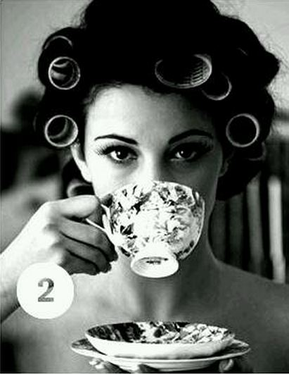 mornings drinking tea