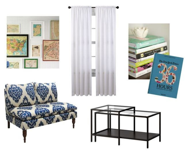 Living Room Inspiration Mood Board