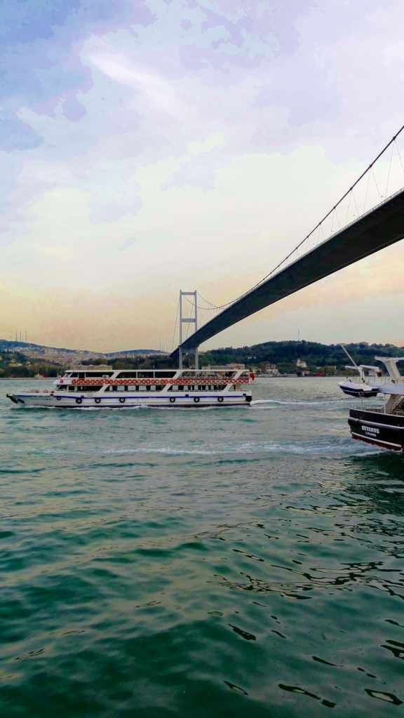 Istanbul Bridge Europe to Asia, East and West