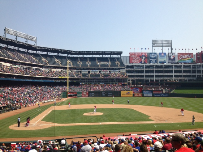 the rangers ballpark in arlington