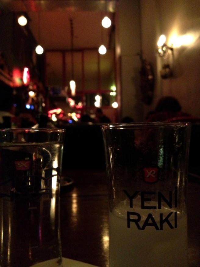 Drinking like the locals. Raki, liquid (alcoholic) licorice.