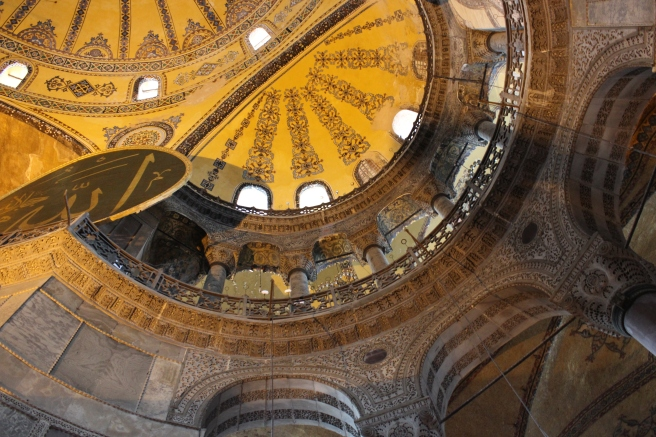 Inside the Hagia Sophia, my favorite of the Old City.