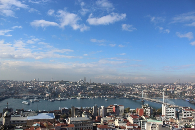 The top of Galata Tower...Hello, Istanbul.