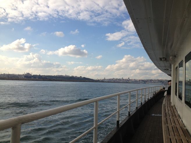 Istanbul has islands, who knew? Enjoying a ferry on our way.