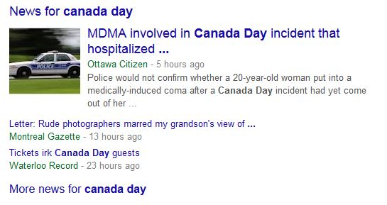 Google News About Canada Day